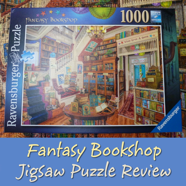 Ravensburger Fantasy Bookshop Jigsaw by Aimee Stewart 1000 Pieces Puzzle Review book lovers shop store books magical