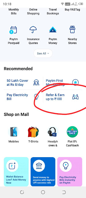 paytm referrral code