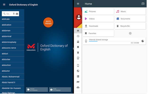 Oxford English Dictionary file explorer