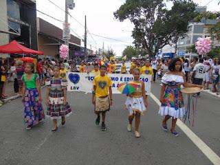 Crianças da LBV levam para o Desfile Cívico e Militar de CG o tema Natureza