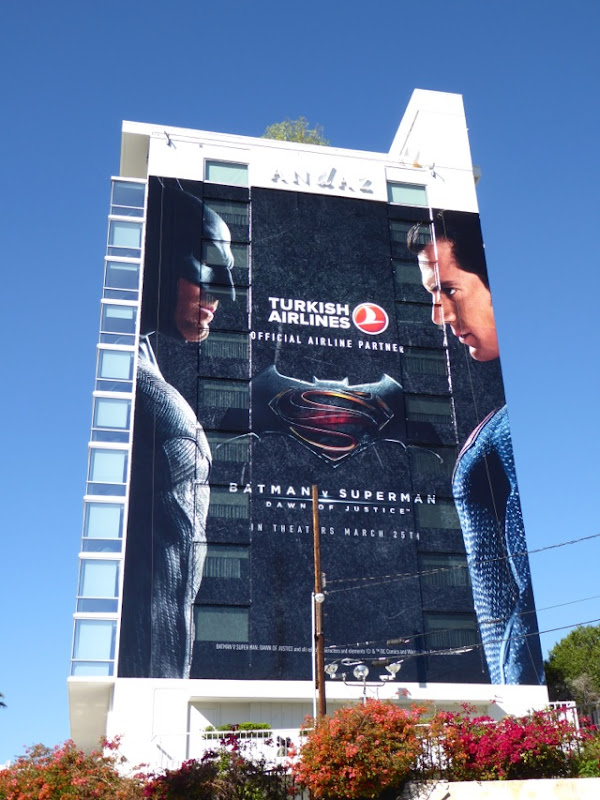 Giant Batman v Superman Turkish Airlines billboard
