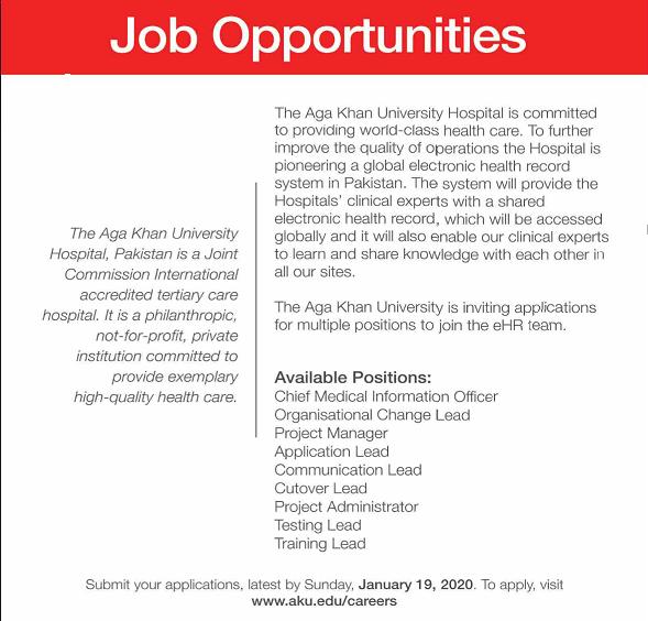 Jobs in Aga Khan University 2020 Latest Vacancies