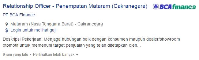Lowongan Kerja Kabupaten Lombok Timur Terbaru 2019