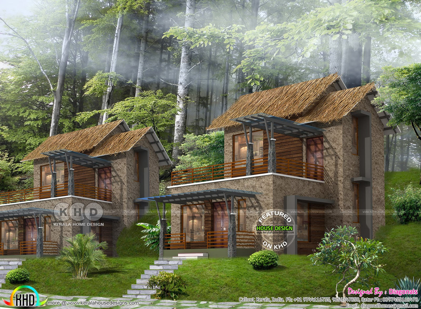 731 square feet Resort home plan Kerala home design and