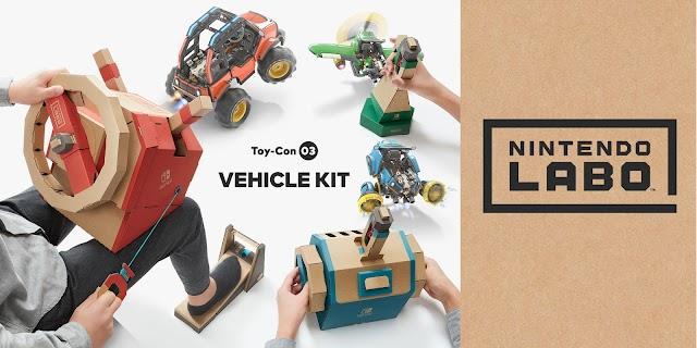 future tech news : Nintendo Labo Vehicle Kit Full Game Review