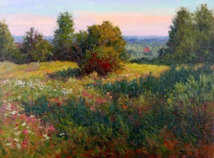 Пейзажи и натюрморты из фруктов и овощей. Kathleen Kalinowski