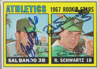 1967 Topps, Sal Bando/Randy Schwartz