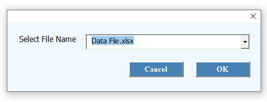 One file selected