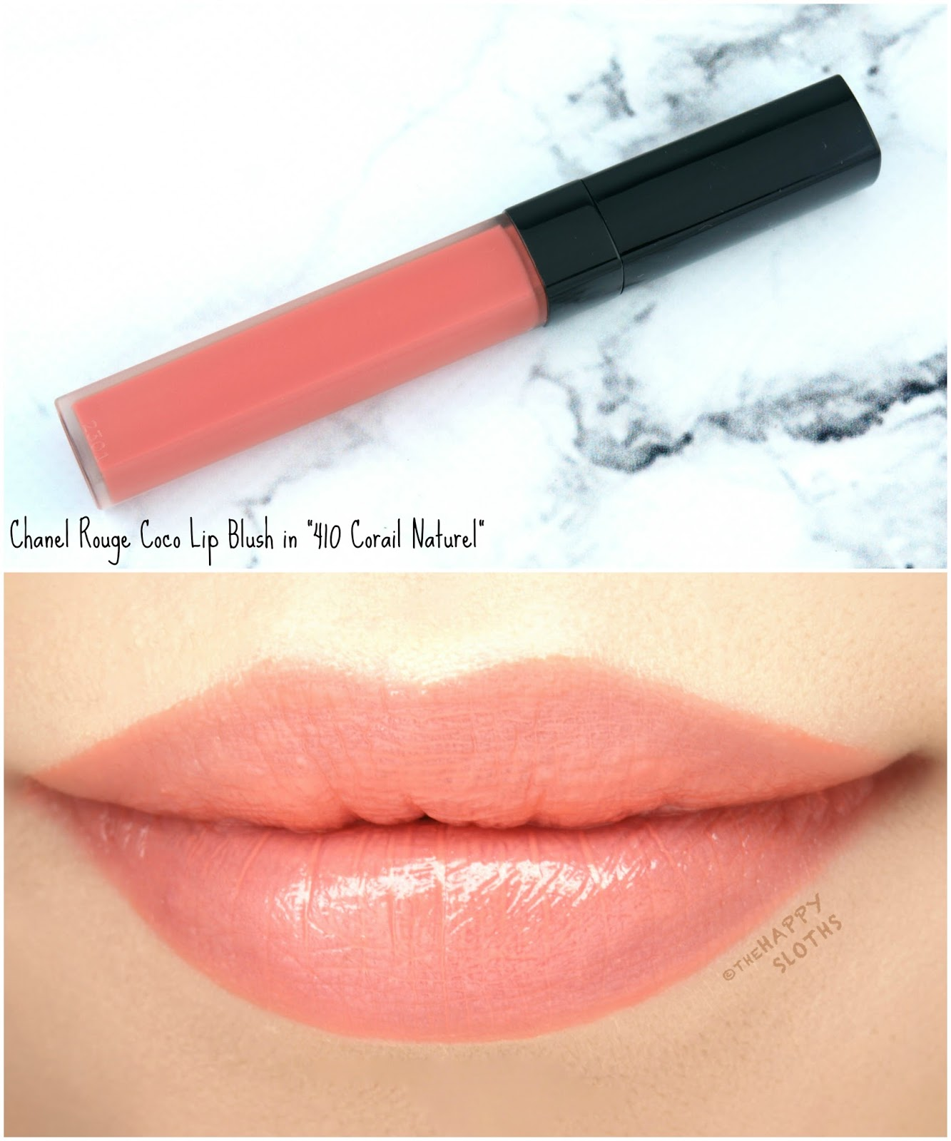 "Chanel Rouge Coco Lip Blush in ""410 Corail Naturel"": Review and Swatches"