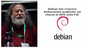 Debian non rilascerà dichiarazioni pubbliche sul ritorno di RMS nella FSF
