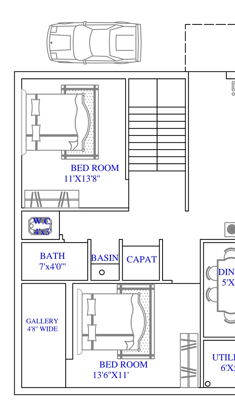 Awesome House Plans 1000 Square Feet North Face House Plan Map Naksha Design