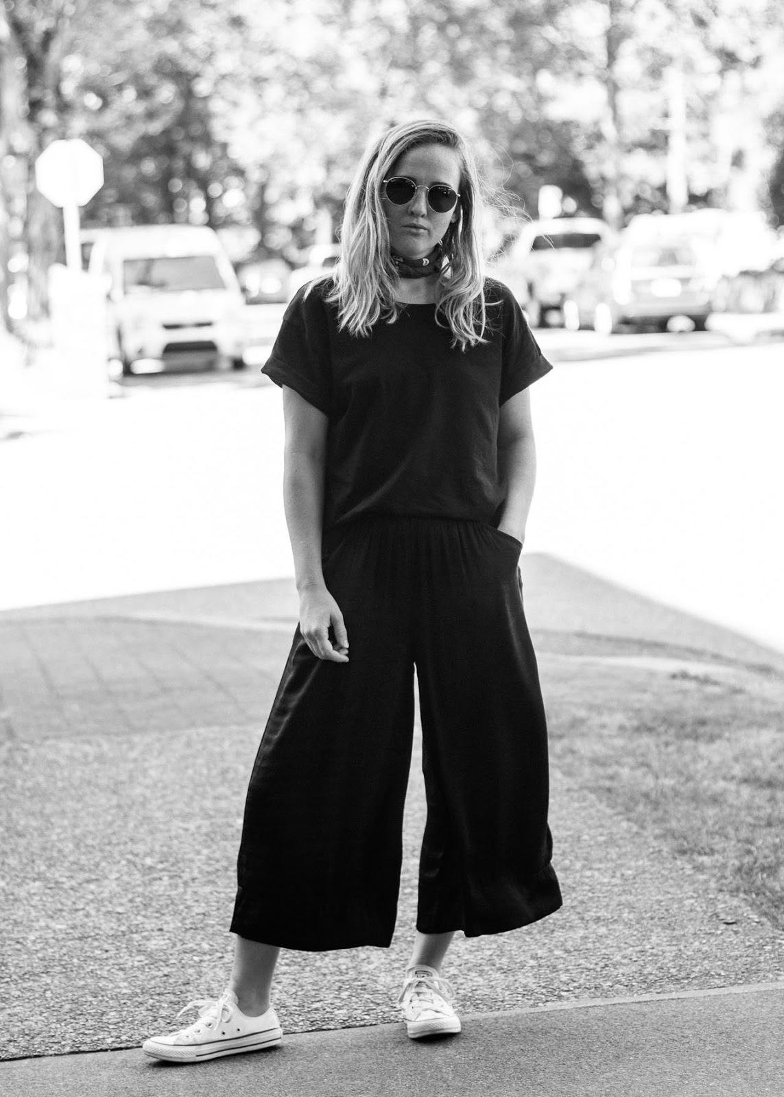 Late Summer outfit - minimal style - Vancouver Fashion blog - Zara culottes