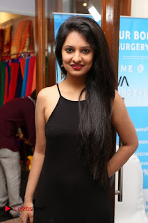 Actress Nikita Bisht Pictures in Black Long Dress at Akritti Elite Exhibition Launch  0020