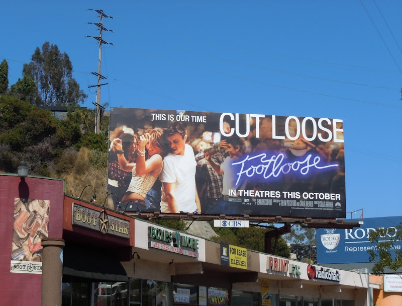 Footloose Cut Loose billboard