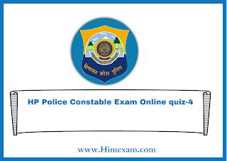 HP Police Constable Exam Online quiz-4