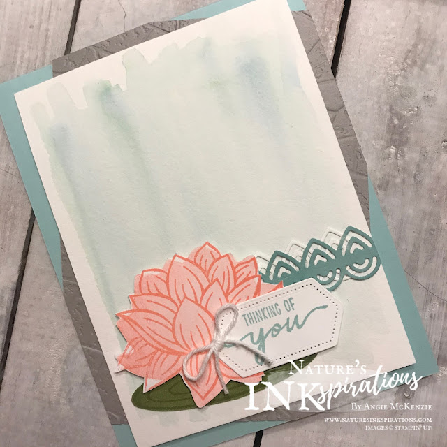 By Angie McKenzie for the Joy of Sets By Angie McKenzie for the Joy of Sets Blog Hop; Click READ or VISIT to go to my blog for details! Featuring the Lovely Lily Pad Stamp Set, Lily Pad Dies, and Stone 3D Embossing Folder part of the Power of Hope bundle all in the new 2020 SAB Catalog along with the Beautiful Moments Stamp Set from the Jan-Jun 2020 Mini Catalog; #stampinup #handmadecards #naturesinkspirations #joyofsetsbloghop #anyoccasioncards #nature #powerofhopebundle #lovelylilypadstampset #beautifulmomentsstampset #lilypaddies #stitchednestedlabelsdies #watercolorwash #fussycutting #cardtechniques #stampinupinks #makingotherssmileonecreationatatime
