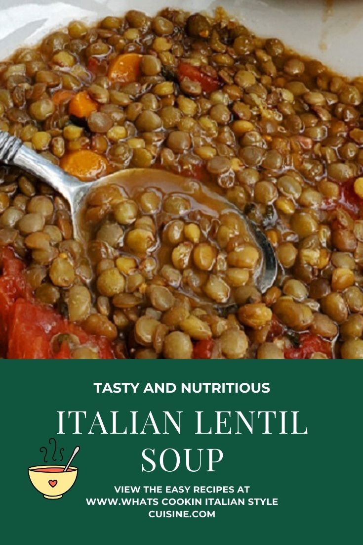 this is a pin for how to make Italian Lentil Soup