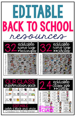 EDITABLE resources for your classroom set up! Perfect for organizing you class during back to school. Personalize labels and name tags for your students, customize your daily job cards, and provide information about your class for parents. #backtoschool #classroomsetup #classroom #school #classroom #nametags #classjobs #labels