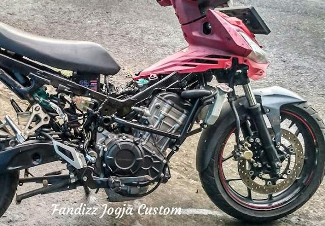 Modifikasi Supra GTR155 jadi 250cc