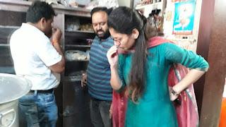 खाद्य विभाग टीम ने की कार्यवाही दुकानदारों में मचा हड़कम्ब