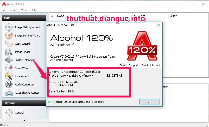 Download Alcohol 120% 2.0.3.9902 Full Crack – Phần Mềm Tạo Ổ Đĩa Ảo