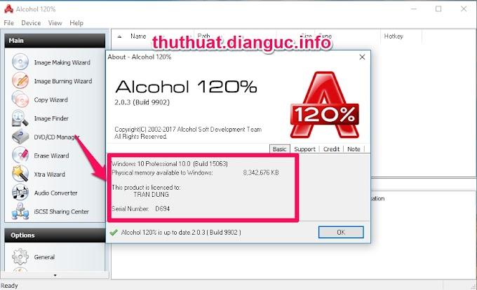Download Alcohol 120% 2.0.3.9902 Full Crack - Phần Mềm Tạo Ổ Đĩa Ảo