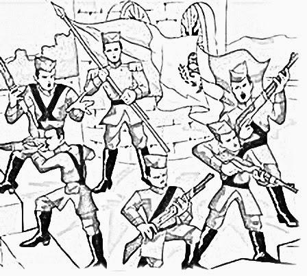 Dibujo Para Colorear Sobre Los Niños Heroes Imagui