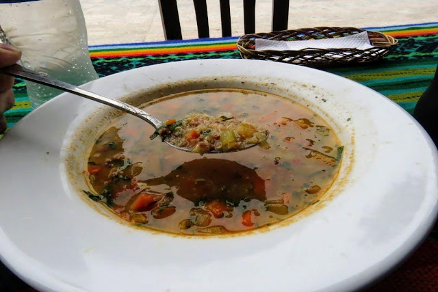 Food in Peru: Quinoa soup is a popular dish in Ollantaytambo