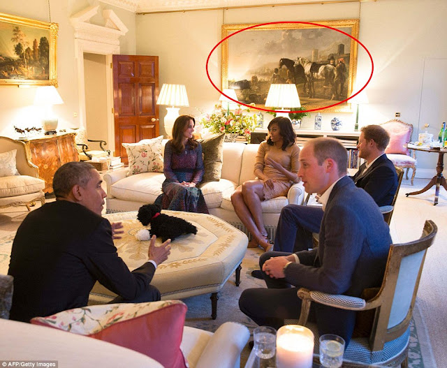 How Royal family hid 'negro' painting moments before William and Kate entertained the Obamas (See Photos)
