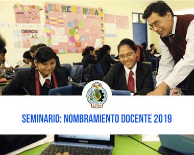 SEMINARIO PEGAGÓGICO: NOMBRAMIENTO Y ASCENSO 2019
