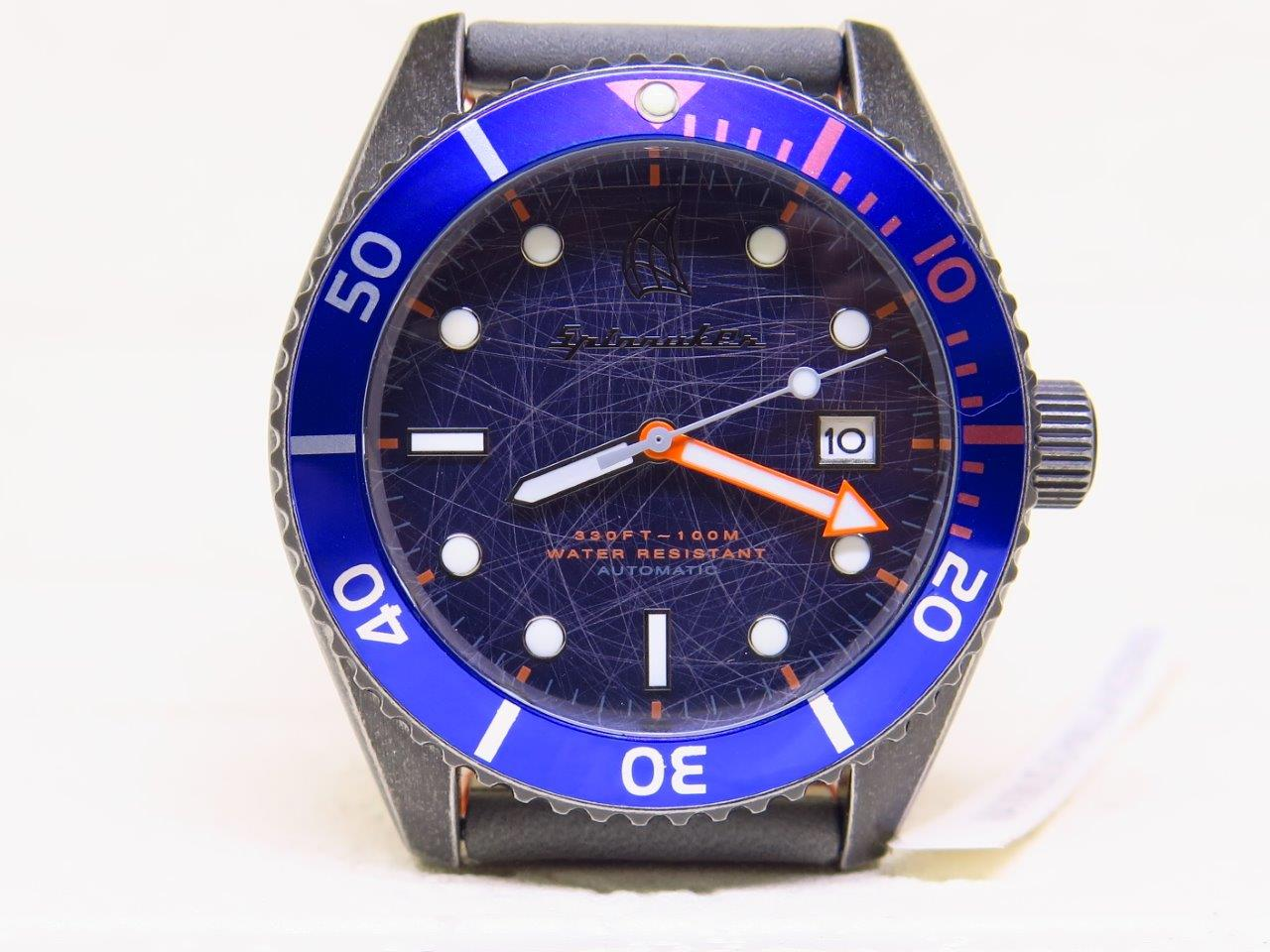 SPINNAKER BLACK DIAL BLUE BEZEL - AUTOMATIC