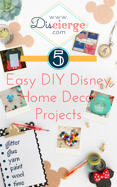 Easy DIY craft projects featuring five Disney home decor projects | DIScierge.com | Your Disney Vacation Planning Concierge