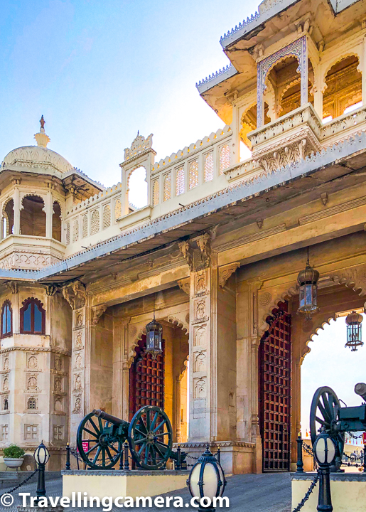 Above photograph shows main entry gate for Udaipur City Palace and there are these canons installed at the entry gate. May times, people are in rush to see the City Palace but forget to pause here and appreciate these old canons of Mewar.