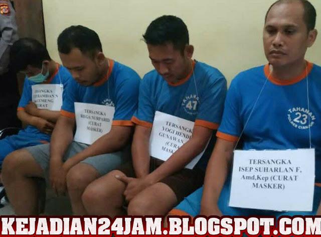 4 Orang Pencuri Masker Di RSUD Pagelaran Cianjur Ditangkap