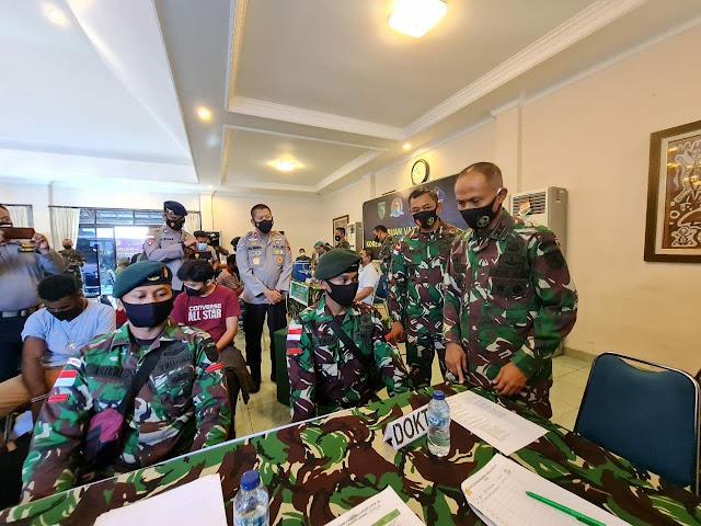 Korem 172/PWY Tatap Muka Virtual dengan Hadi Tjahjanto BersamaTokoh Agama di Papua