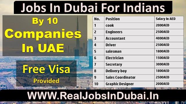 Jobs In Dubai For Indian Graduates & Hight School Pass 2020.
