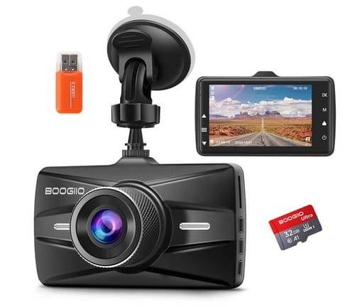 BOOGIIO OK-831 Dash Cam Front with 32G SD Card