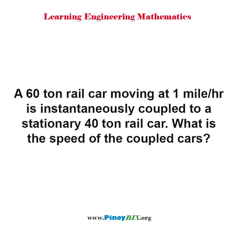 What is the speed of the coupled cars?