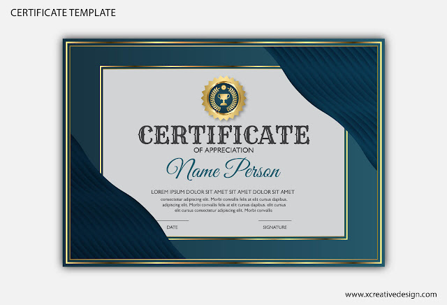 Certificate template for business, diploma & education
