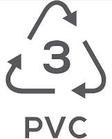 Simbol Daur Ulang Plastik 3 - Polyvinyl Chloride (PVC)