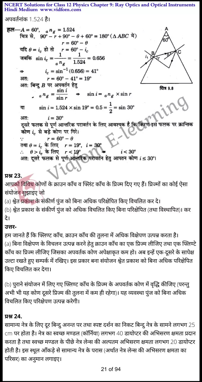 class 12 physics chapter 9 light hindi medium 21