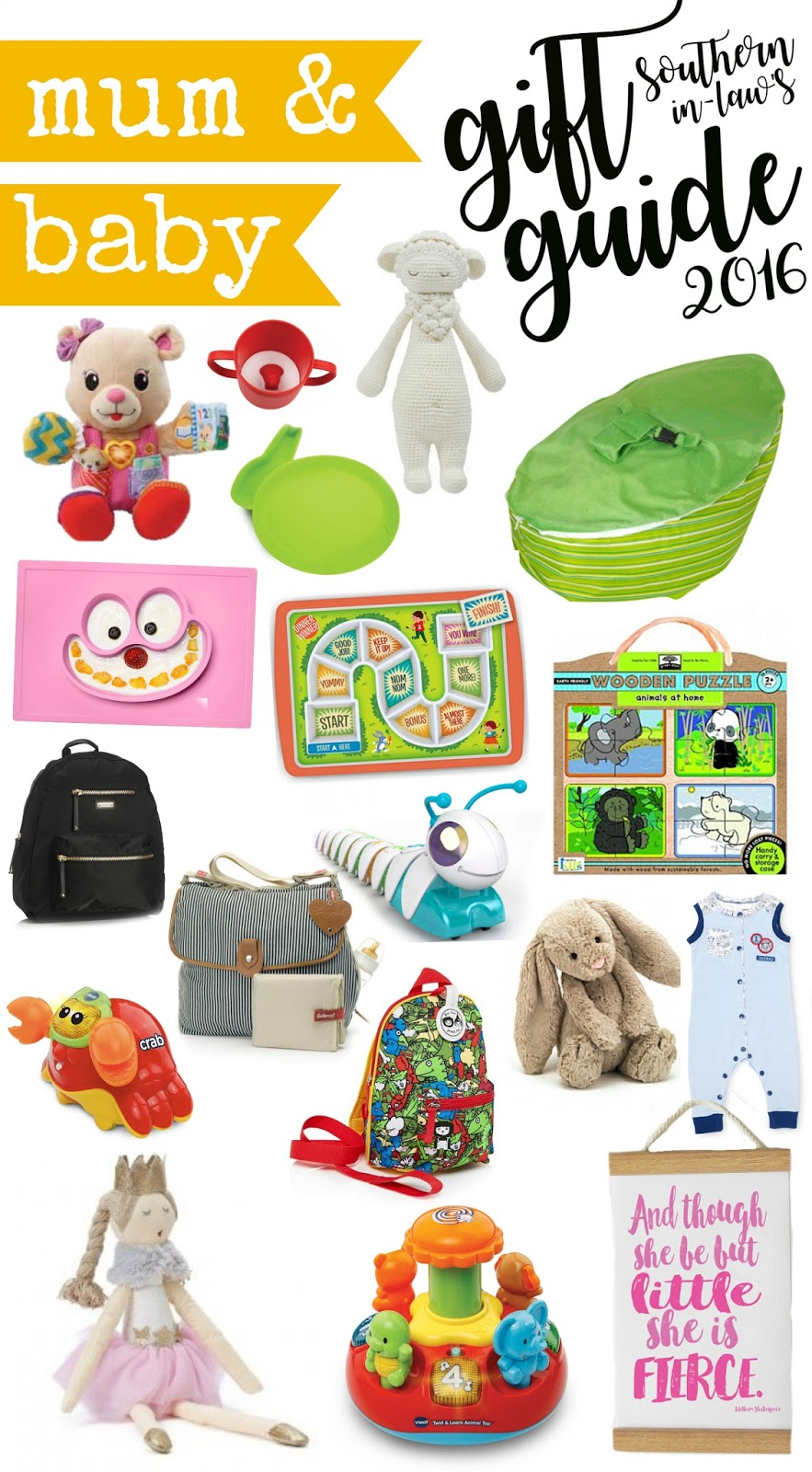 Mum and Baby Christmas Gift Guide 2016 - Christmas Gift Ideas for Babies, Toddlers, Newborns and Parents