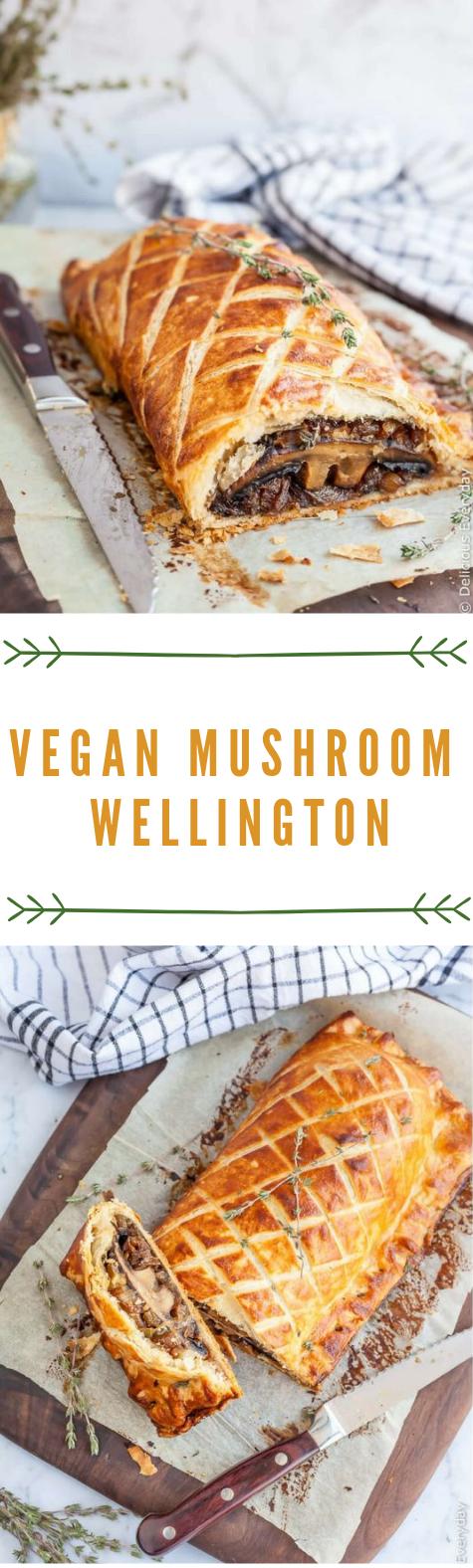 Vegan Mushroom Wellington Recipe #vegan #mushroom