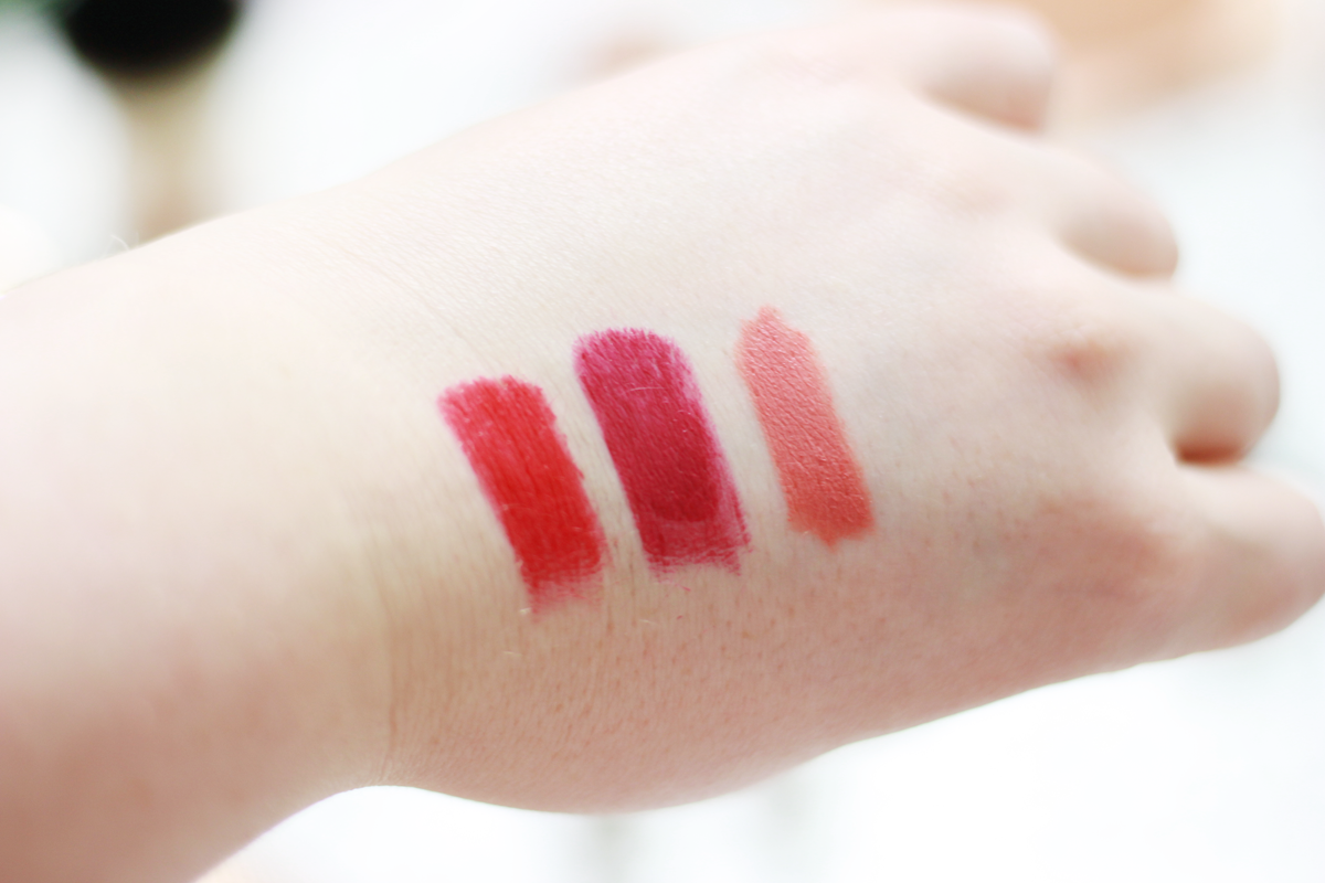 Swatches of KIKO Mirage lip stylo & free spirit lips & cheeks
