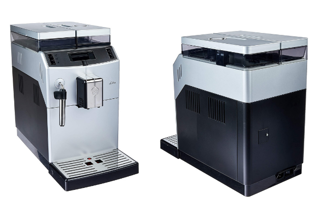 Cafeteira Automática Saeco Lirika Plus visto de 2 ângulos diferentes