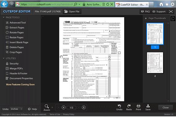 CutePDF-Editor-Online-PDF-Editor