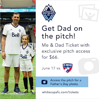 whitecaps soccer father's day