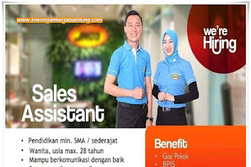 Lowongan Kerja Sales Assistant Jaco Jawa Barat