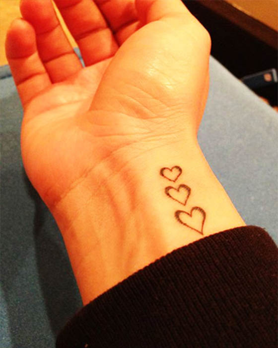 secuencia corazones tatuaje