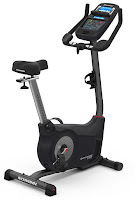 2017 Schwinn 170 Upright Exercise Bike, with 29 programs, 25 ECB resistance levels, new console with Bluetooth connectivity, 4-way adjustable saddle, angle adjustable handlebars with padded elbow rests